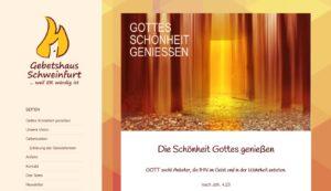 Screenshot www.gebetshaus-schweinfurt.de